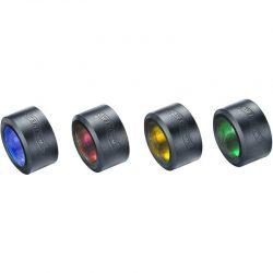 Walther Pro Color filter set - bleu, red, yellow, green, 3.7082.3, set filtrov pre PL70, PL70r, PL80
